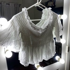 Tops - White ruched top